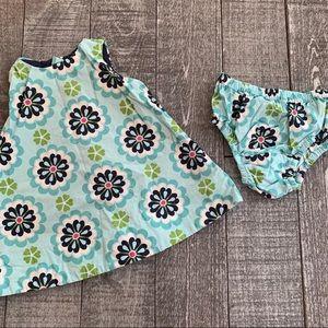 Baby GAP Flower Shift Dress w/ Diaper Cover